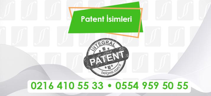 Patent İsimleri