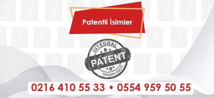 Patentli İsimler